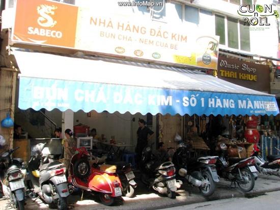 tiệm bún chả Hàng Mành